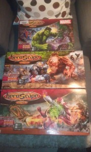Three boxes of HeroScape