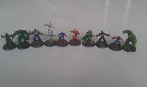 Figures from Mavel HeroScape
