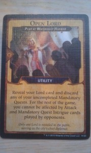 Open Lord card.